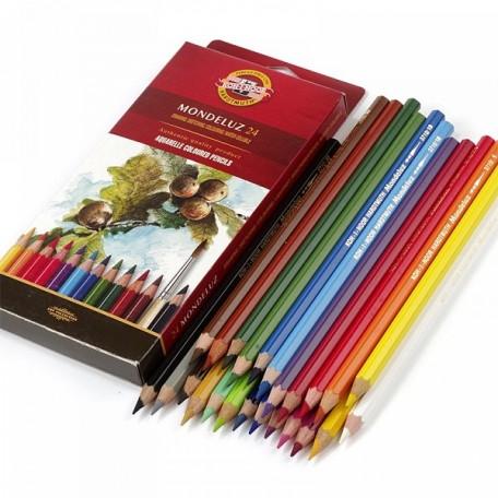 Набор акварельных цветных карандашей арт.НП.3718024001KSR Mondeluz KOH-I-NOOR 24цв.