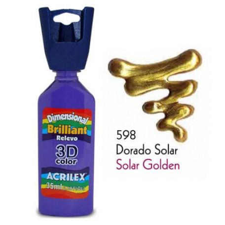 3D контур акриловый металлик арт.БФ.ACRILEX.12312.0598 35мл цв.солнечное золото