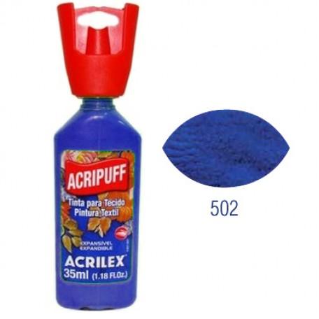 Акрипуфф ЗD акриловая краска по ткани и твердым поверхностям арт.БФ.ACRILEX.04812.0502 35мл цв.синий кобальт
