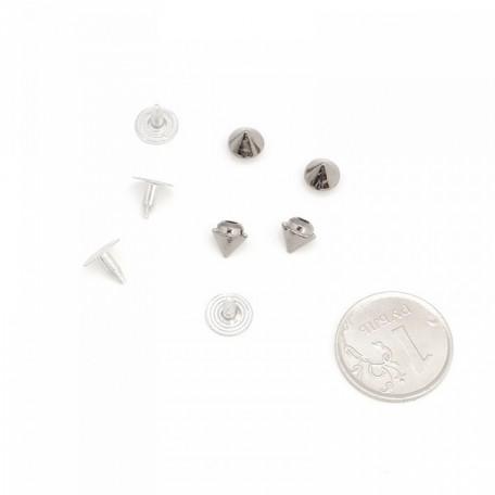 Хольнитен шип цв.black nikel 6x7.5мм уп.20 шт