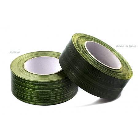 Лента аспидистра 4 см арт.TBY.LA.04.01 цв.01 т.зеленый уп.45,7м