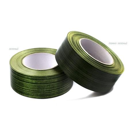 Лента аспидистра 4 см арт.TBY.LA.04.01 цв.02 зеленый уп.45,7м