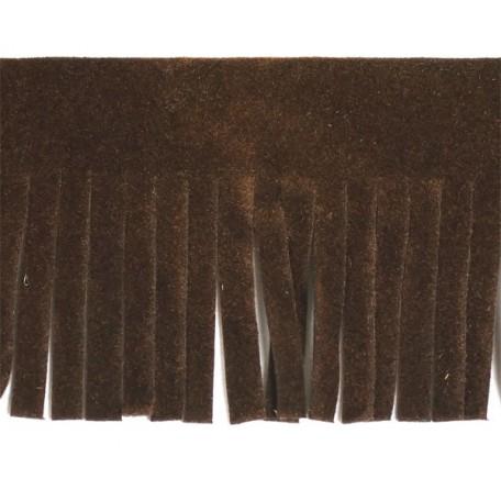 Бахрома из искусственной кожи арт.ТР-ИК-ВЕЛ шир. 46мм (2м х 25) цв. 278 темно-коричневый