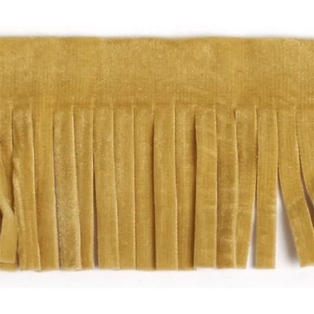 Бахрома из искусственной кожи арт.ТР-ИК-ВЕЛ шир. 46мм (2м х 25) цв. 373 светло-бежевый