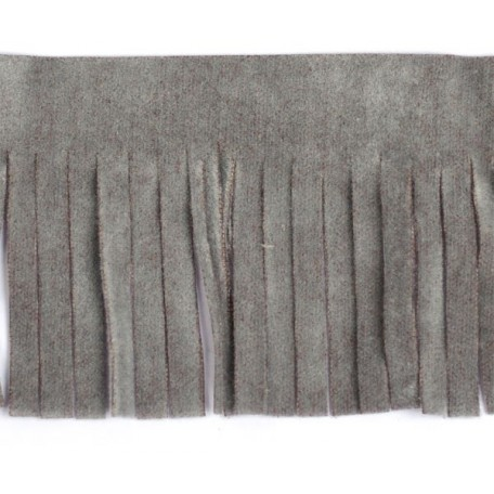 Бахрома из искусственной кожи арт.ТР-ИК-ВЕЛ шир. 46мм (2м х 25) цв. 504 серый