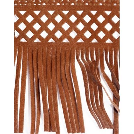 Бахрома велюр арт.ТВ-D7 шир.80мм цв.15 коричневый