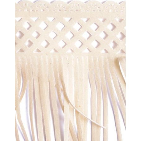 Бахрома велюр арт.ТВ-D7 шир.80мм цв.31 слоновой кости