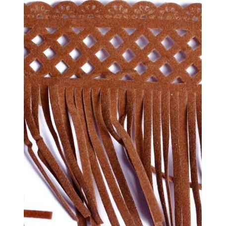 Бахрома велюр арт.ТВ-D7 шир.80мм цв.44 светло-коричневый