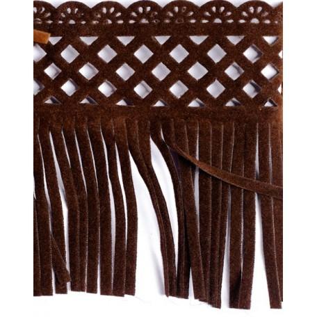 Бахрома велюр арт.ТВ-D7 шир.80мм цв.50 коричневый