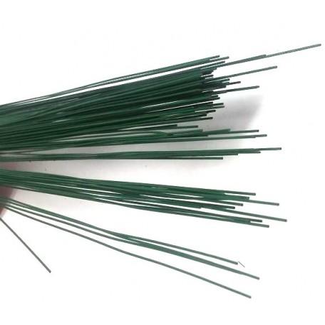 Герберная проволока цв.зеленый 0,6мм 40см уп.100шт