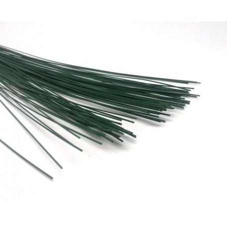 Герберная проволока цв.зеленый 0,8мм 40см уп.100шт