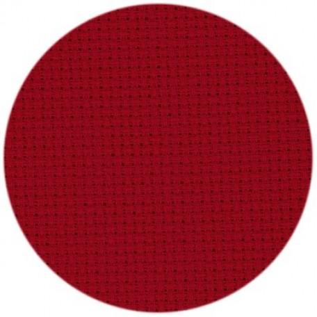 Канва 'Zweigart' Stern-Aida арт.3706 упак.48х53 (10смх54кл) цв.954 красный