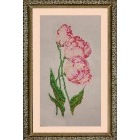 Набор для вышивания бисером 'КАРТИНЫ БИСЕРОМ' арт.К-006 Тюльпаны 18х32см