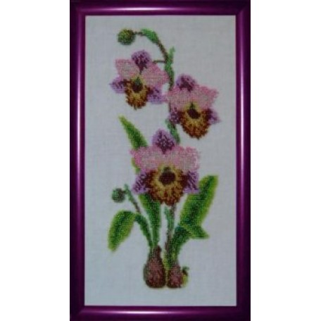 Набор для вышивания бисером 'КАРТИНЫ БИСЕРОМ' арт.К-007 Орхидеи 17х30см