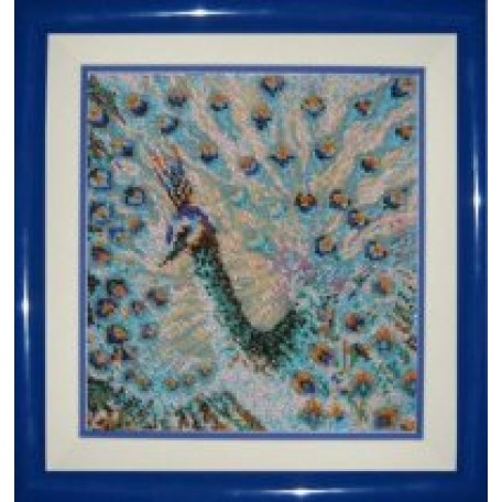 Набор для вышивания бисером 'КАРТИНЫ БИСЕРОМ' арт.К-015 Павлин 18х22см