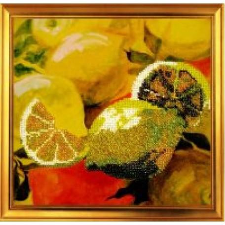 Набор для вышивания бисером 'КАРТИНЫ БИСЕРОМ' арт.Р-001 Лимоны 20х20см