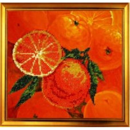 Набор для вышивания бисером 'КАРТИНЫ БИСЕРОМ' арт.Р-002 Апельсины 20х20см