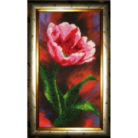 Набор для вышивания бисером 'КАРТИНЫ БИСЕРОМ' арт.Р-005 Аленький Цветочек 16х29см