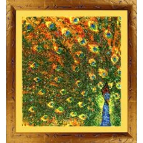 Набор для вышивания бисером 'КАРТИНЫ БИСЕРОМ' арт.Р-014 Павлин 23х26см
