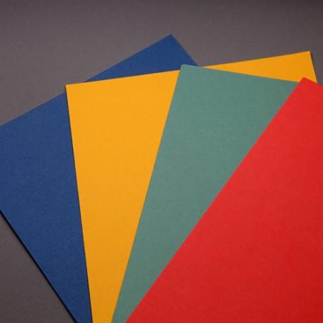 Набор цветного картона арт. ЛХ.Н12А 'Подсолнухи' 4 цвета, 12 листов, формат А3