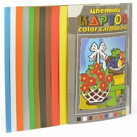 Набор цветного картона арт. ЛХ.НКЦ203/3 'Натюрморт' 10 цветов, 10 листов, формат А3