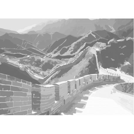 Холст на картоне НП арт.141751 Сонет с эскизом Великая Китайская стена 30х40 см