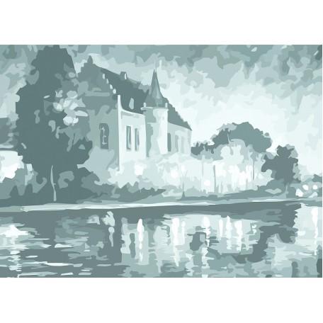 Холст на картоне НП арт.141754 Сонет с эскизом Замок 30х40 см