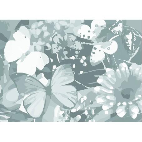 Холст на картоне НП арт.141755 Сонет с эскизом Бабочки 30х40 см