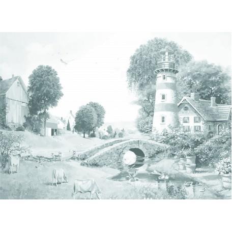 Холст на картоне НП арт.141756 Сонет с эскизом Пейзаж 30х40 см