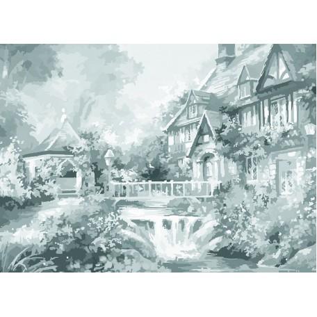 Холст на картоне НП арт.141757 Сонет с эскизом В саду 30х40 см