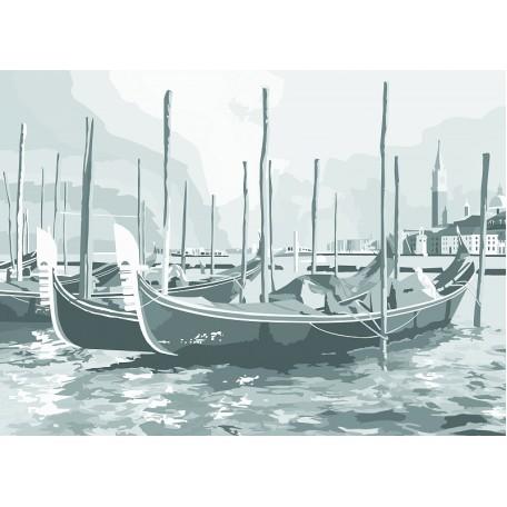 Холст на картоне НП арт.141760 Сонет с эскизом Венеция 30х40 см