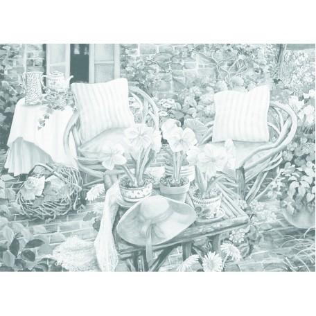 Холст на картоне НП арт.141763 Сонет с эскизом На террасе 30х40 см