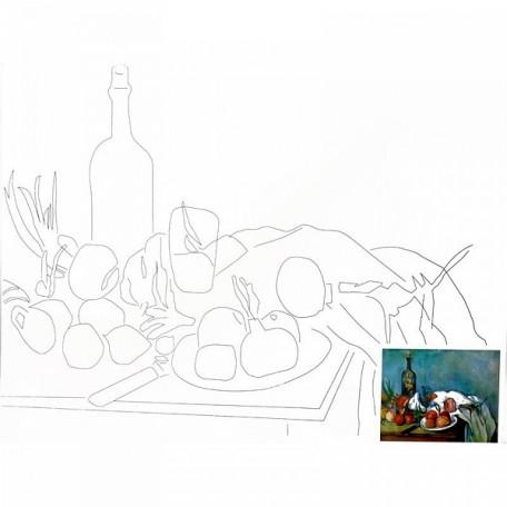 Холст на картоне НП арт.DK13701-C с контуром Натюрморт-2 30х40 см