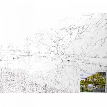 Холст на картоне НП арт.DK13701-I с контуром Пейзаж 30х40 см