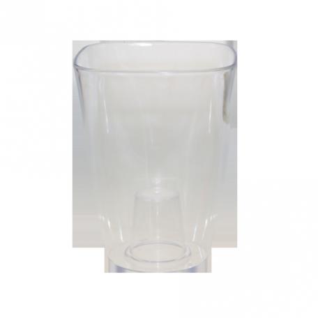 FPL.015797 Кашпо для орхидей квадр.12,7х12,7 h16,8см прозрачный