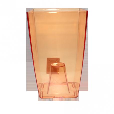 FPL.016095 Кашпо пласт. Финезиа d12,5 h19,5 см цв.оранжевый прозрач.