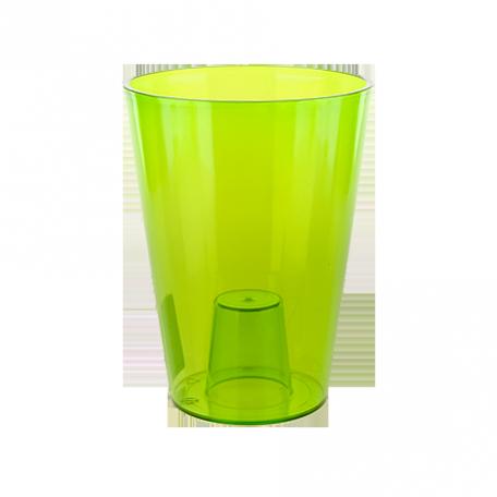 FPL.027456 Кашпо Лилия d-12,8 h-17см прозр.зеленый