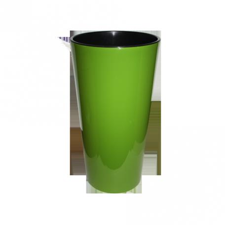 FPL.027463 Кашпо Лилия d-14 h-26,1см цв.зеленый с вкладышем