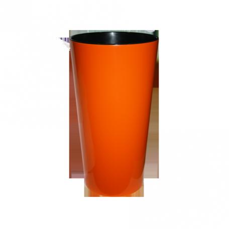 FPL.027467 Кашпо Лилия d-14 h-26,1см цв.оранжевый с вкладышем