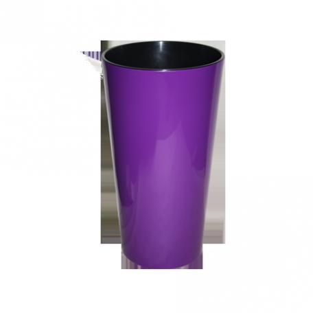 FPL.027468 Кашпо Лилия d-14 h-26,1см цв.фиолетовый с вкладышем