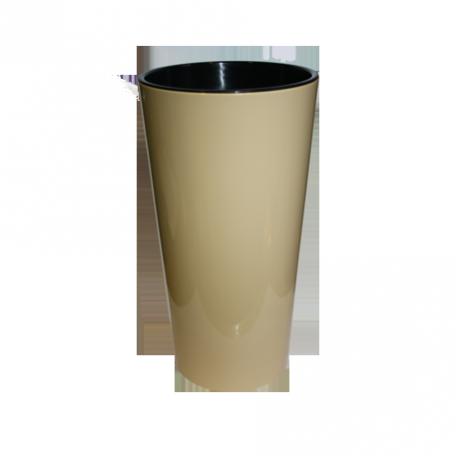 FPL.027471 Кашпо Лилия d-14 h-26,1см цв.кофе с вкладышем