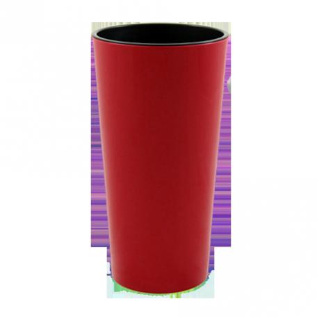 FPL.030914 Кашпо Лилия d-14 h-26,1см цв.красный с вкладышем