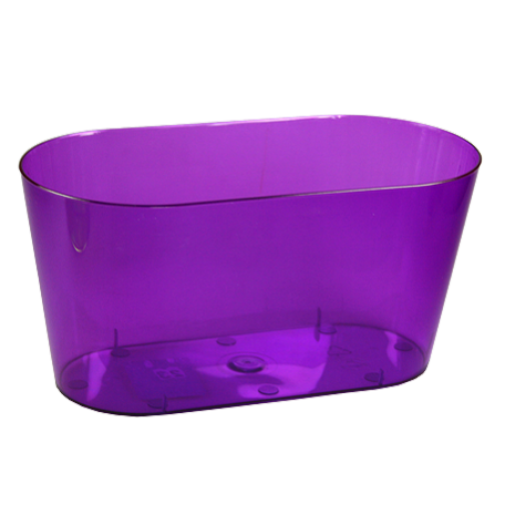 FPL.038380 Кашпо Вулкан 23x11 h11 см. 2,0 л. прозрачно-фиолетовый