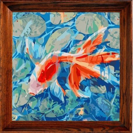 Набор 'Колор Кит' картина по номерам арт.КК.AC006 Рыбка 30х30
