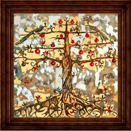 Набор 'Колор Кит' картина по номерам арт.КК.AC008 Гранатовое дерево 30х30