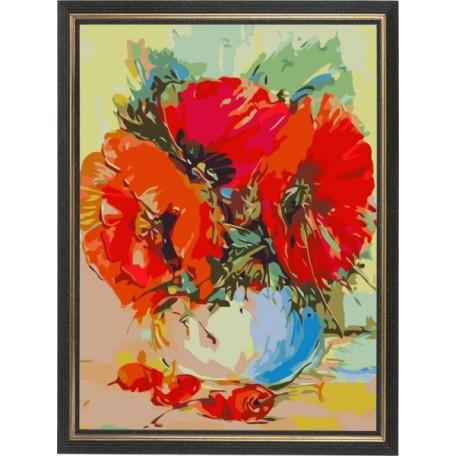 Набор 'Колор Кит' картина по номерам арт.КК.AM001 Маковый букет 30х40