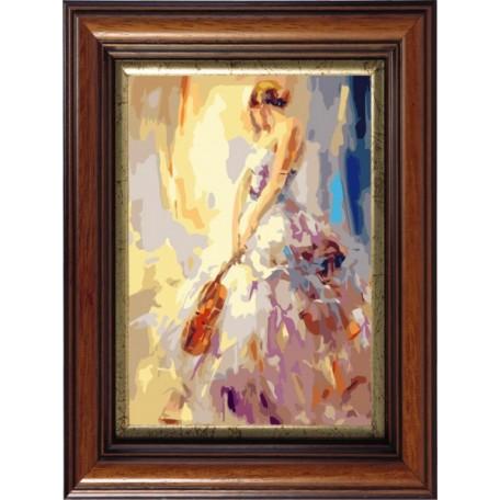 Набор 'Колор Кит' картина по номерам арт.КК.AM013 Скрипачка 30х40