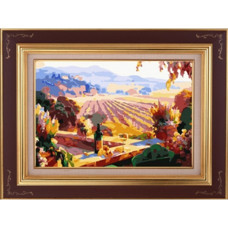 Набор 'Колор Кит' картина по номерам арт.КК.AM017 Пейзаж Тосканы 30х40