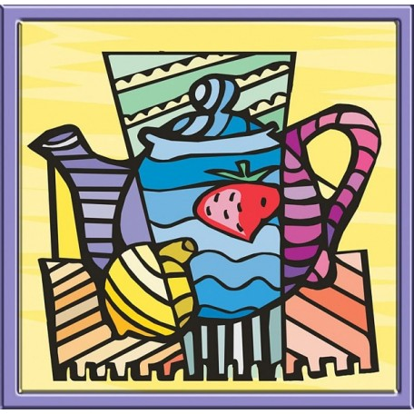 Набор 'Колор Кит' картина по номерам арт.КК.CD001 Чайник 30х30