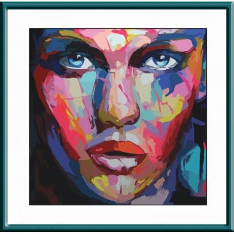 Набор 'Колор Кит' картина по номерам арт.КК.CD006 Абстрактный портрет женский 30х30 см
